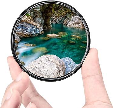 49mm UV Filter Ploture Ultra-Slim Multi-Coated UV Protection Camera Lens Filter with Lens Cloth Work for Canon//Nikon//Sony DSLR Camera Lens