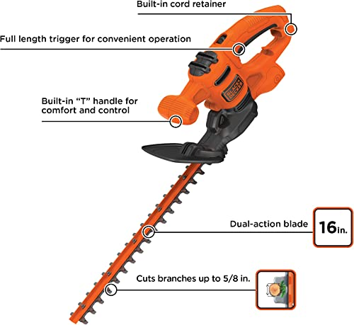BLACK DECKER BEHT100 Hedge Trimmer, Brown A