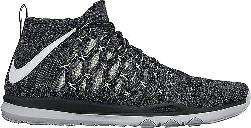 competitive price 29811 18de0 Nike Train Ultrafast Flyknit Sz 9.5 Mens Cross Training Black White-Dark  Grey-