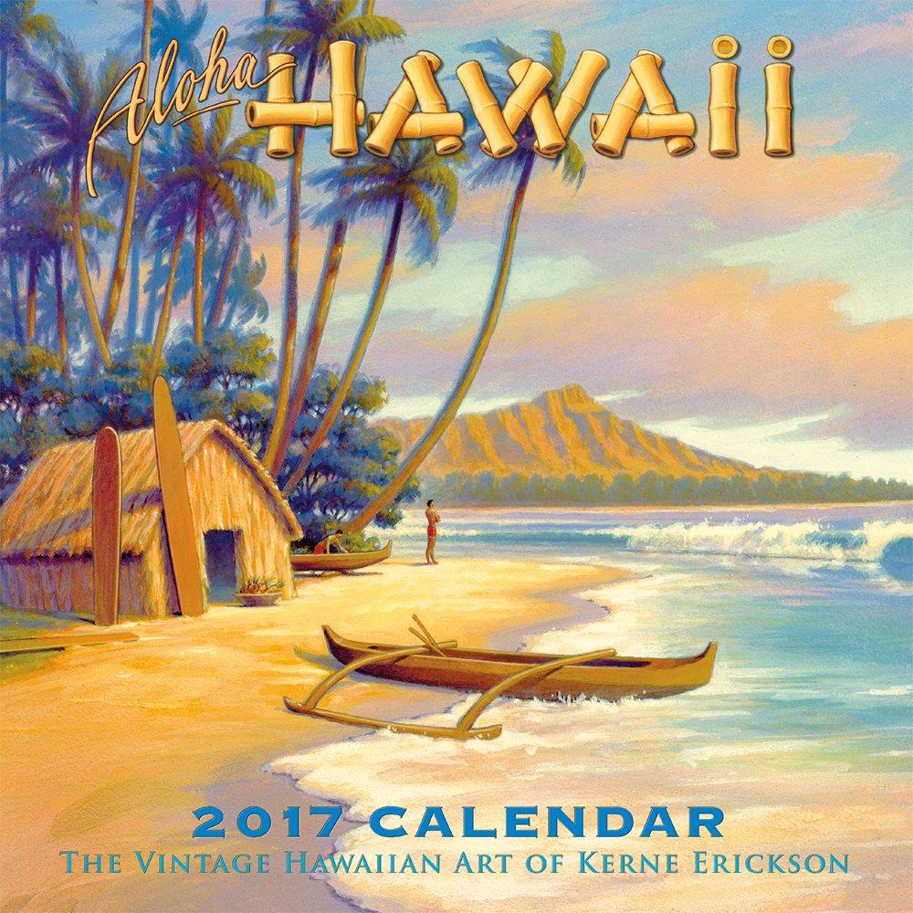 Amazon.com : Hawaii 2017 Deluxe Wall Calendar - Aloha Hawaii by ...
