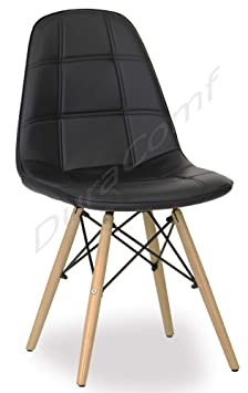 DuraComf Dining Chair/Living Room Chair/Side Chair for Home/Cafe Chair/Restaurant Chairs with Cushion (Black)
