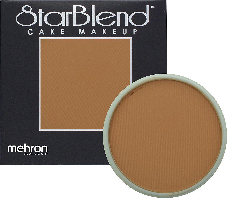 Mehron Makeup StarBlend Cake Makeup LIGHT KHAKI – 2oz
