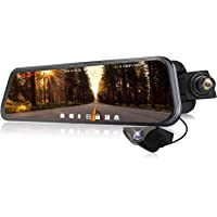 "Spedal 9.66"" Touchscreen Display 1080p Backup Mirror Dash Cam"