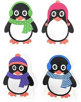 Handw/ärmer tolles Wichtelgeschenk 4er Set Taschenw/ärmer Pinguin Taschenheizkissen