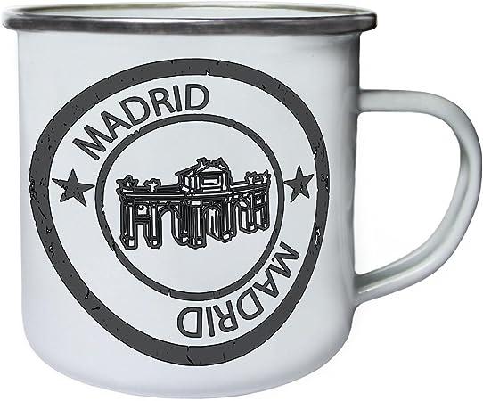 Nueva España Madrid Retro, lata, taza del esmalte 10oz/280ml m272e: Amazon.es: Hogar