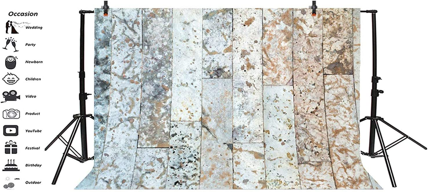 Dirty Marble Texture Wall Backdrops 10x6.5ft Rustic Polyester Photography Backdrop Grunge Splicing Vertical Sriped Wall Background Children Adults Portraits Shoot Production Photo Props