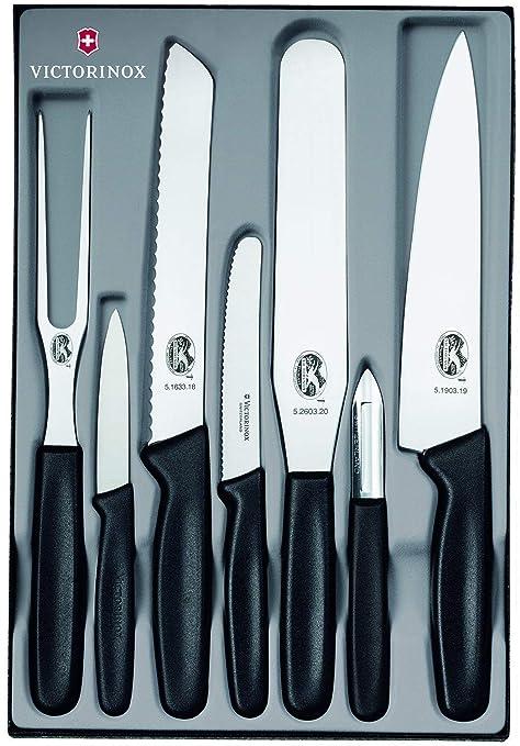Victorinox 5.1103.7 Cuchillo, Acero Inoxidable, Negro ...