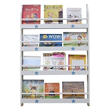 Childrens Bookshelf Wall Hanging Simple Shelf Kindergarten Baby Kids Picture Children