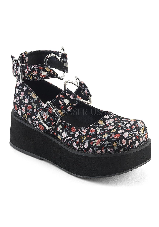Demonia Women's SPR02/BVL Fashion Sneaker B074MR3JTP 6 B(M) US|Floral Fabric