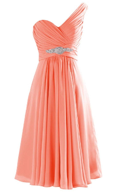 ThaliaDress Women One Shoulder Short Evening Bridesmaid Dress Prom Gown T273LF