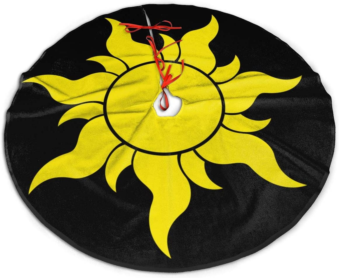 Amazon Com Htrbuoh Tangled Sun Symbol Christmas Tree Skirt For Xmas Holiday Decorations Indoor Outdoor 36 Home Kitchen
