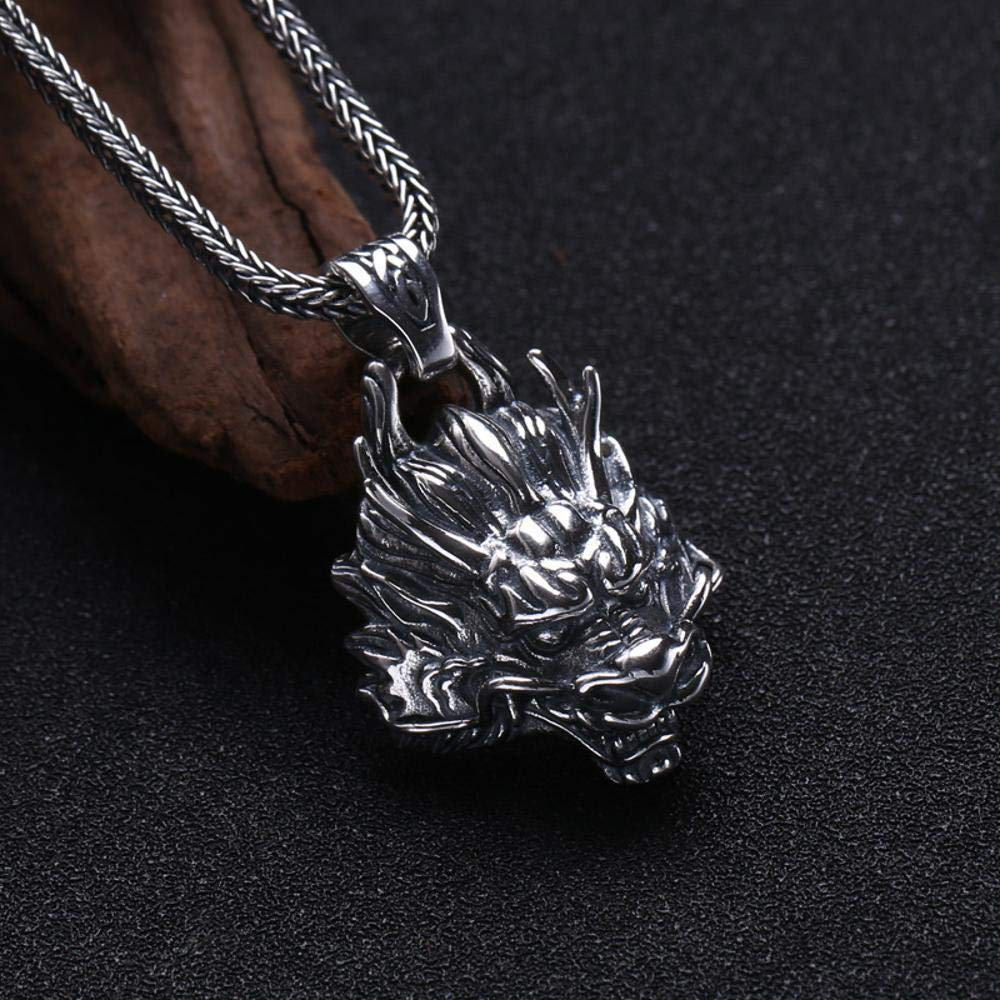MAFYU S925 Sterling Silver Mens Personality Retro Exaggerated Faucet Pendant Necklace