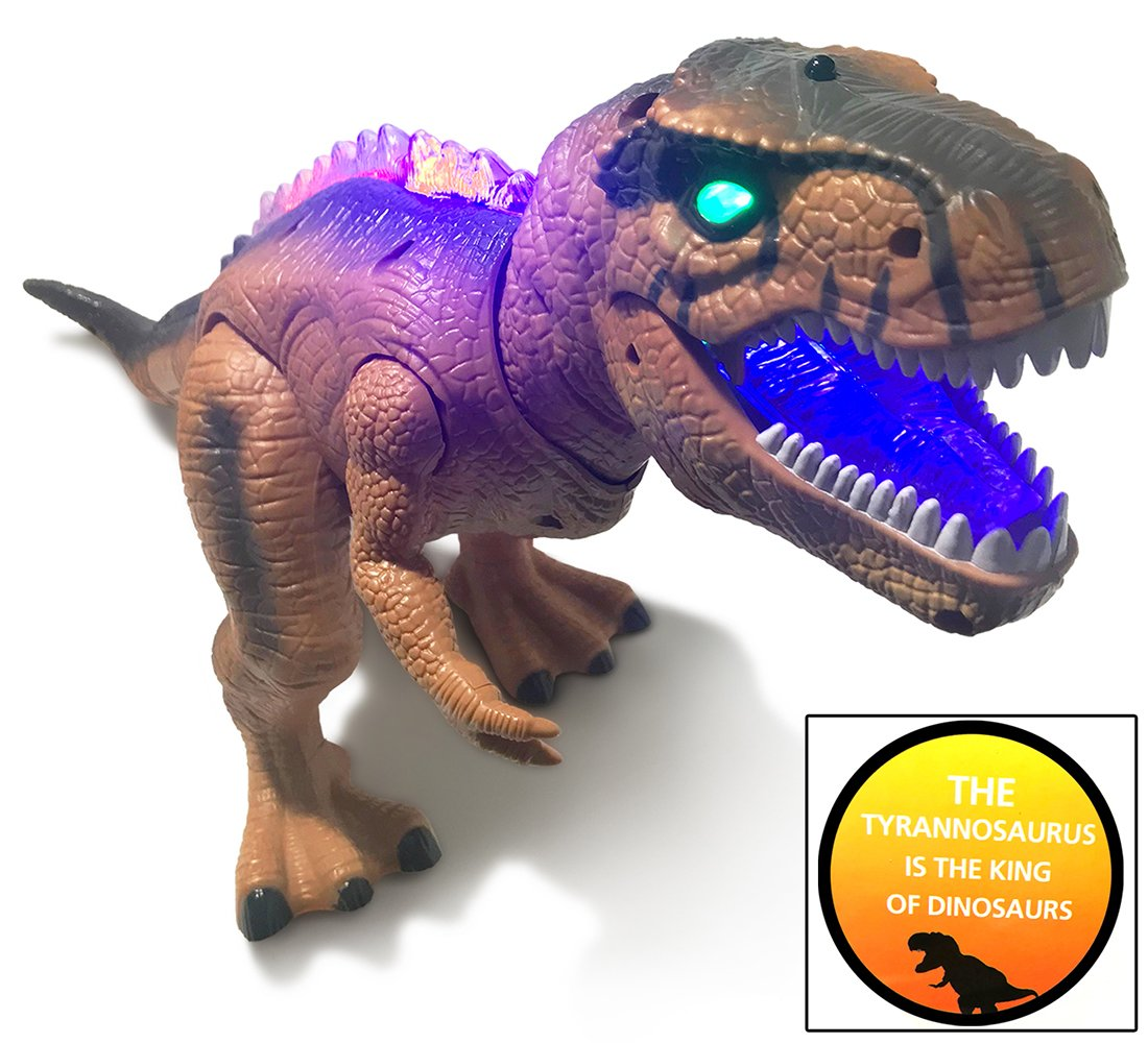 Warp Gadgets - Remote Control LED Brown T-Rex Dinosaur 19 Inches - Walking Dancing, Roaring, Light Up RC Toy by Warp Gadgets (Image #5)