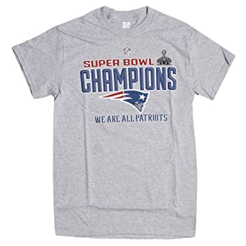7e9650c4 New England Patriots Superbowl XLIX Champion T-Shirt, XL: Amazon.co ...