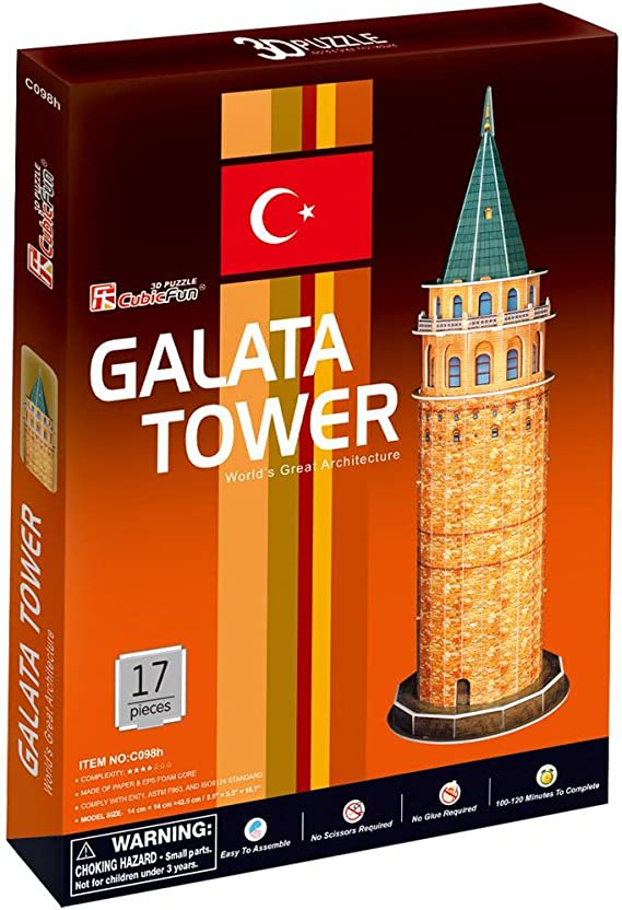 GALATA TOWER 3D Puzzle NEW CubicFun GALATA TURM