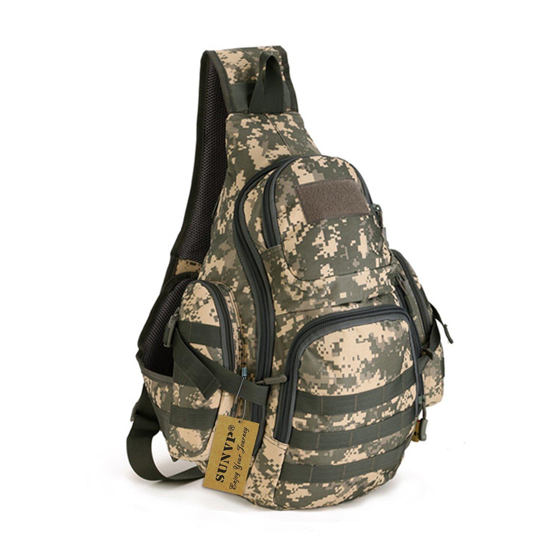 8eedb25f453 Protector Plus Tactical Military Daypack Sling Chest Pack Bag Molle Laptop  Backpack Large Shoulder Bag Crossbody