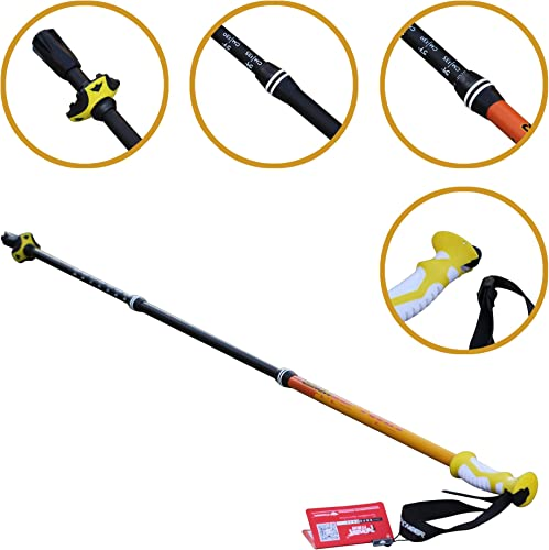Pioveer Aluminum Trekking Pole Collapsible Hiking Pole with Anti-Shock System 6 Colors