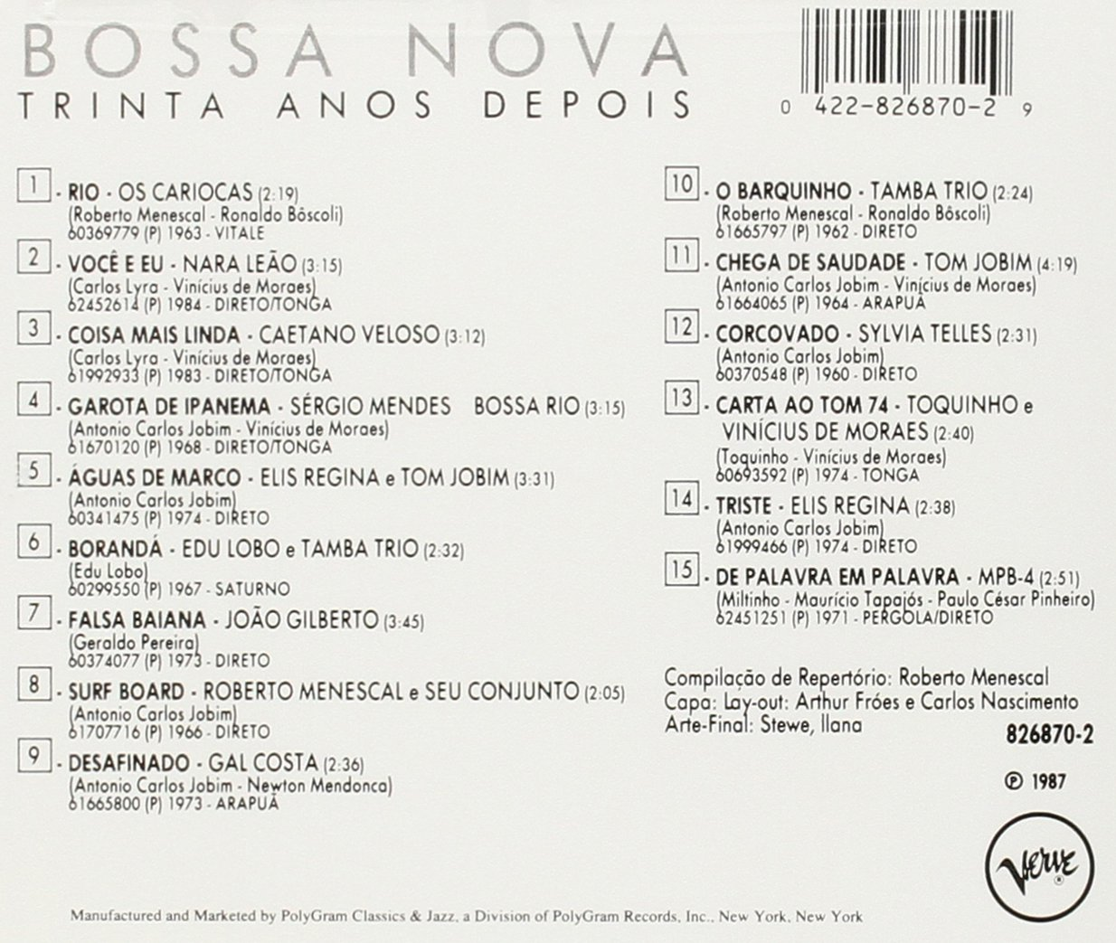 Bossa Nova Trinta Anos Depois (30 Years of Bossa Nova)