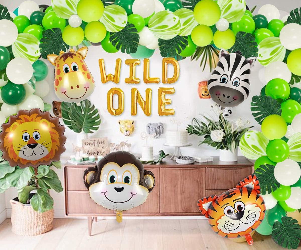 Wild One Birthday Decorations Balloons Garland Arch Kits Jungle