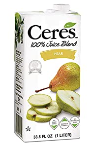 Ceres 100% All Natural Pure Fruit Juice Blend, Pear - Gluten Free, Rich in Vitamin C, No Added Sugar or Preservatives, Cholesterol Free - 33.8 FL OZ (3 Count)