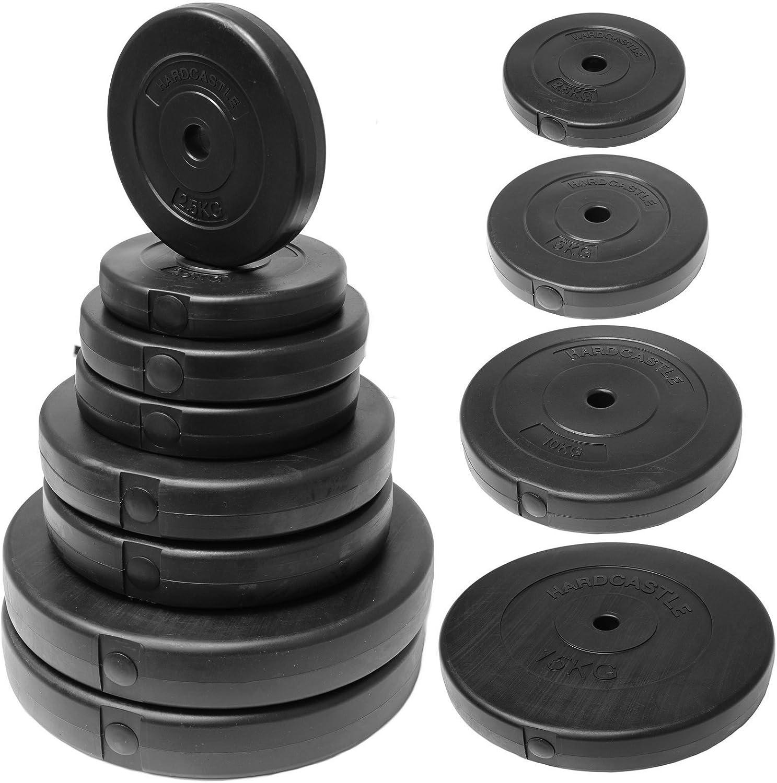 "4  × 1.25kg OPTI Fitness 5 KG Vinyl Weight Plate Pack for 1/"" Standard bar"