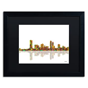 amazon com milwaukee wisconsin skyline by marlene watson black