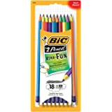BIC Pencil Xtra Fun, #2 HB, 18-Count