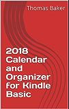 2018 Calendar and Organizer for Kindle Basic (English Edition)