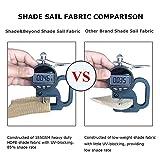 Shade&Beyond 15'x15'x21' Sun Shade Sail Triangle