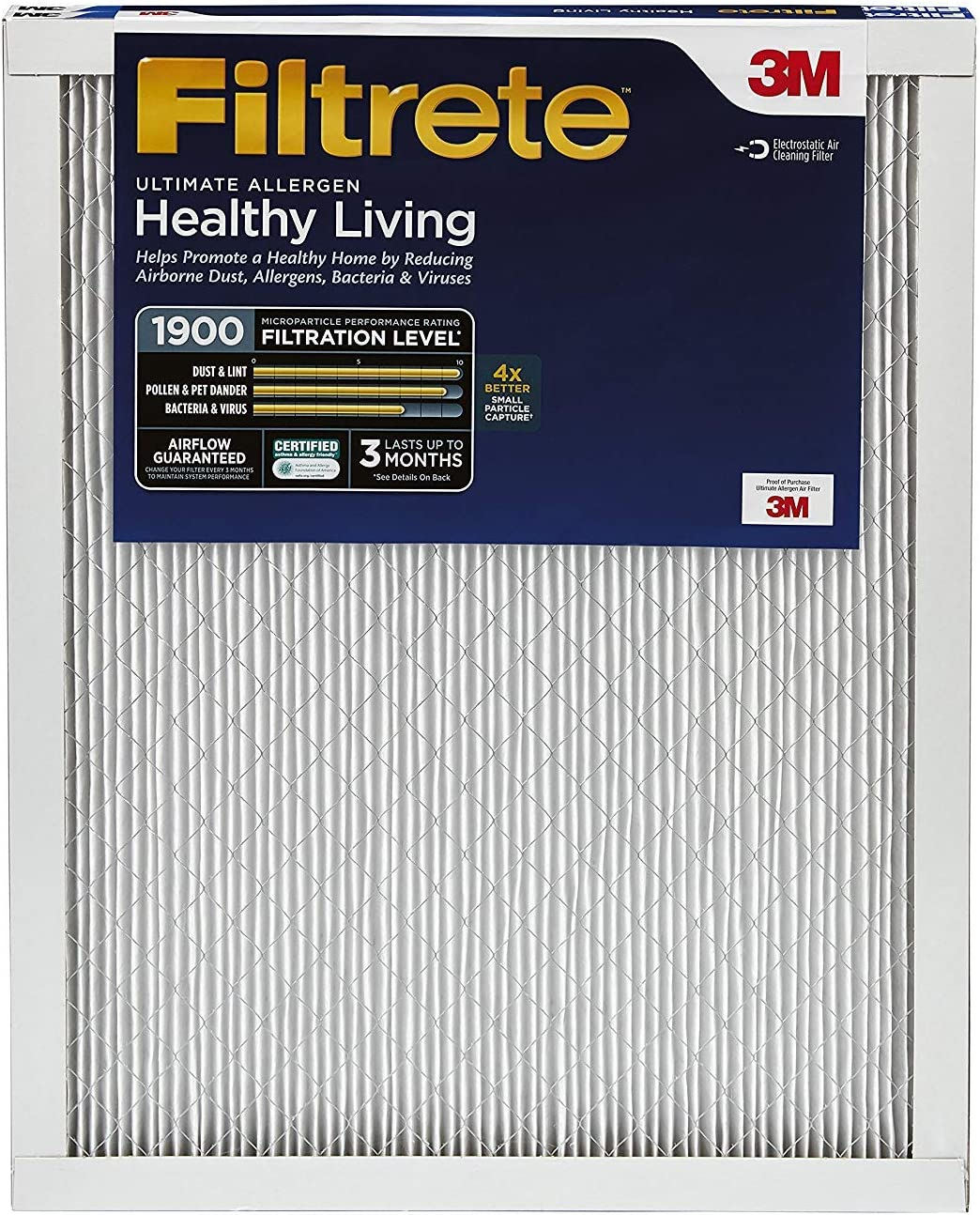 Filtrete UT05-2PK-6E Air Filter, 14 x 20 x 1, 6