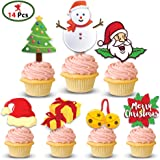 Party Propz Christmas Cup Cake Toper (Pack of 14)