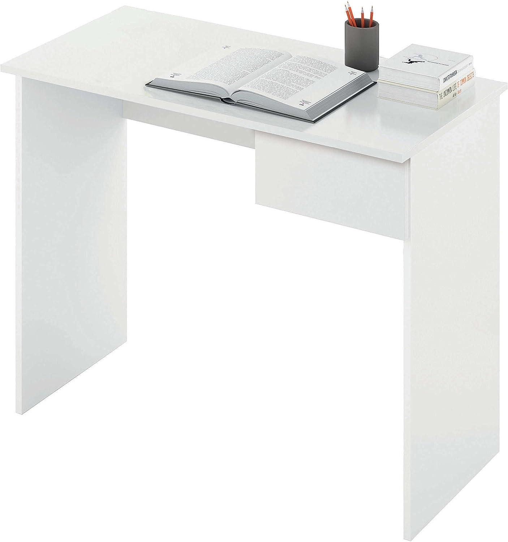 Abitti Escritorio Mesa de Ordenador Multimedia Color Blanco con ...