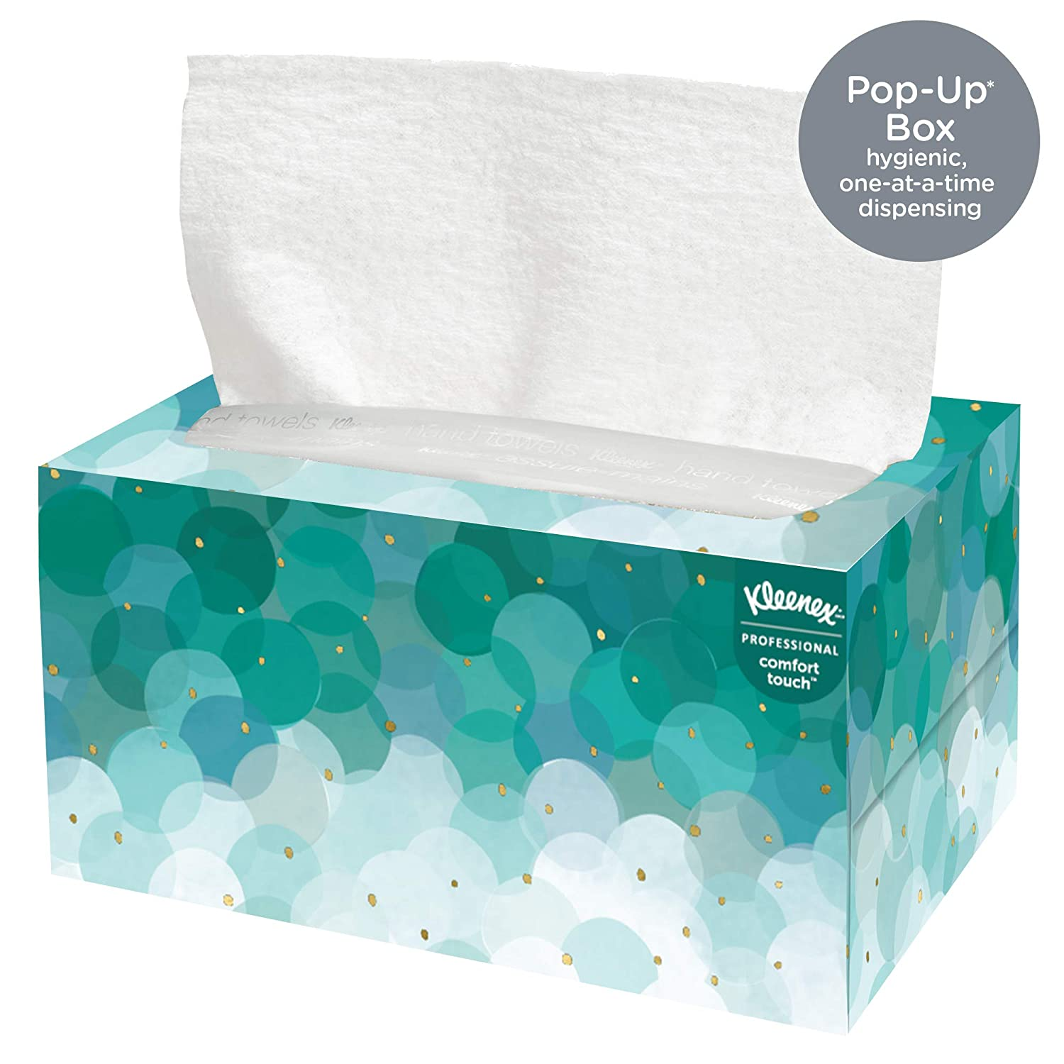 Kleenex Hand Towels 11268 Ultra Soft And Absorbent Pop Up Box 18 Boxes Case 70 Paper Hand Towels Box 1 260 Sheets Case Industrial Scientific