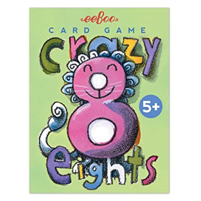 eeBoo Crazy Eights Card Game for Kids: Toys & Games