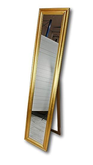180x40cm Standspiegel Groß Antik Mit Patina Spiegel Mit Fuß Barock