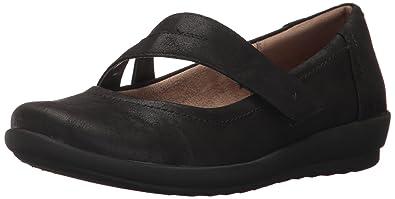 Easy Spirit Women's Kathleen2 Flat, Black/Black Fabric, 6 M US