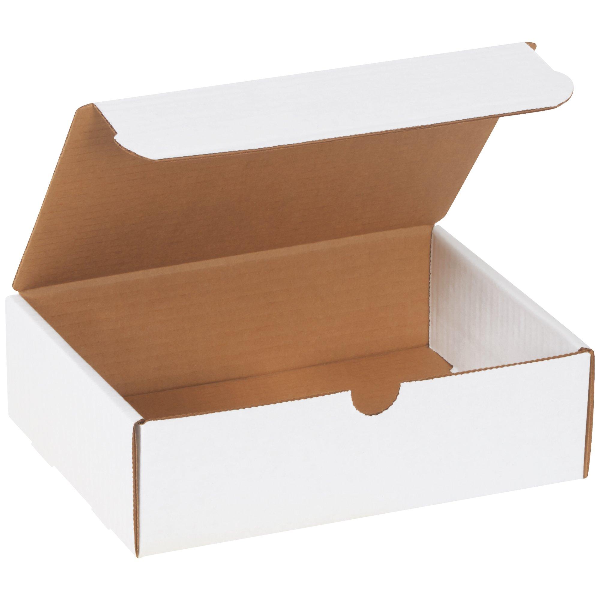 BOX USA BM962100PK Literature Mailers, 9''L x 6-1/2''W x 2-3/4''H, White (Pack of 100)