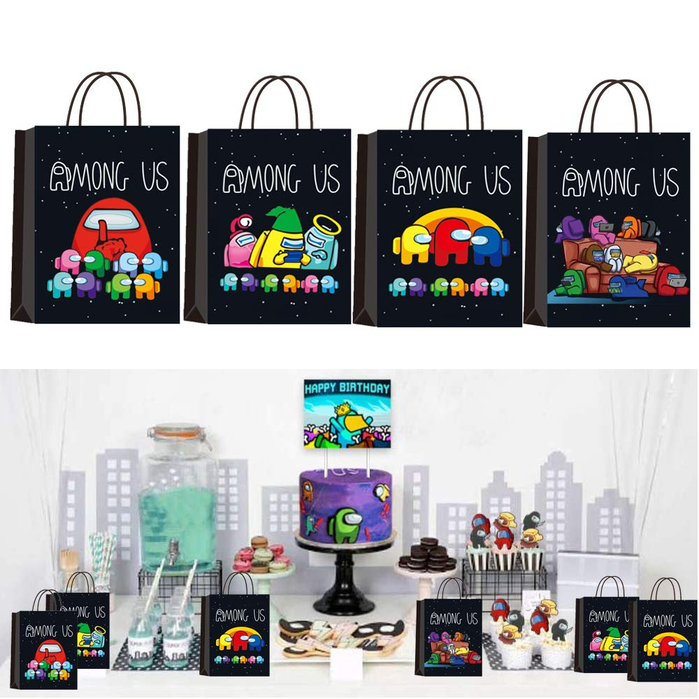 16 Pcs AMONG US Party Goodie Bags for AMONG US Themed Party & Kids Adults Birthday Party Supplies Among US Party Favors