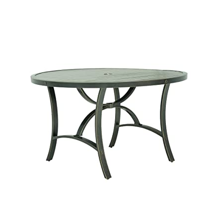 48 inch round dining table reclaimed ipatio santa rosa 48 inch round dining table amazoncom garden