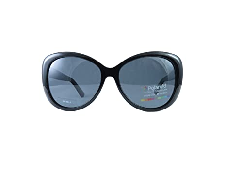 5de00f69f7fe Image Unavailable. Image not available for. Color  Polaroid Sunglasses  Women s PLD 4050 u s Polarized Rectangular Sunglasses BLACK 58 mm