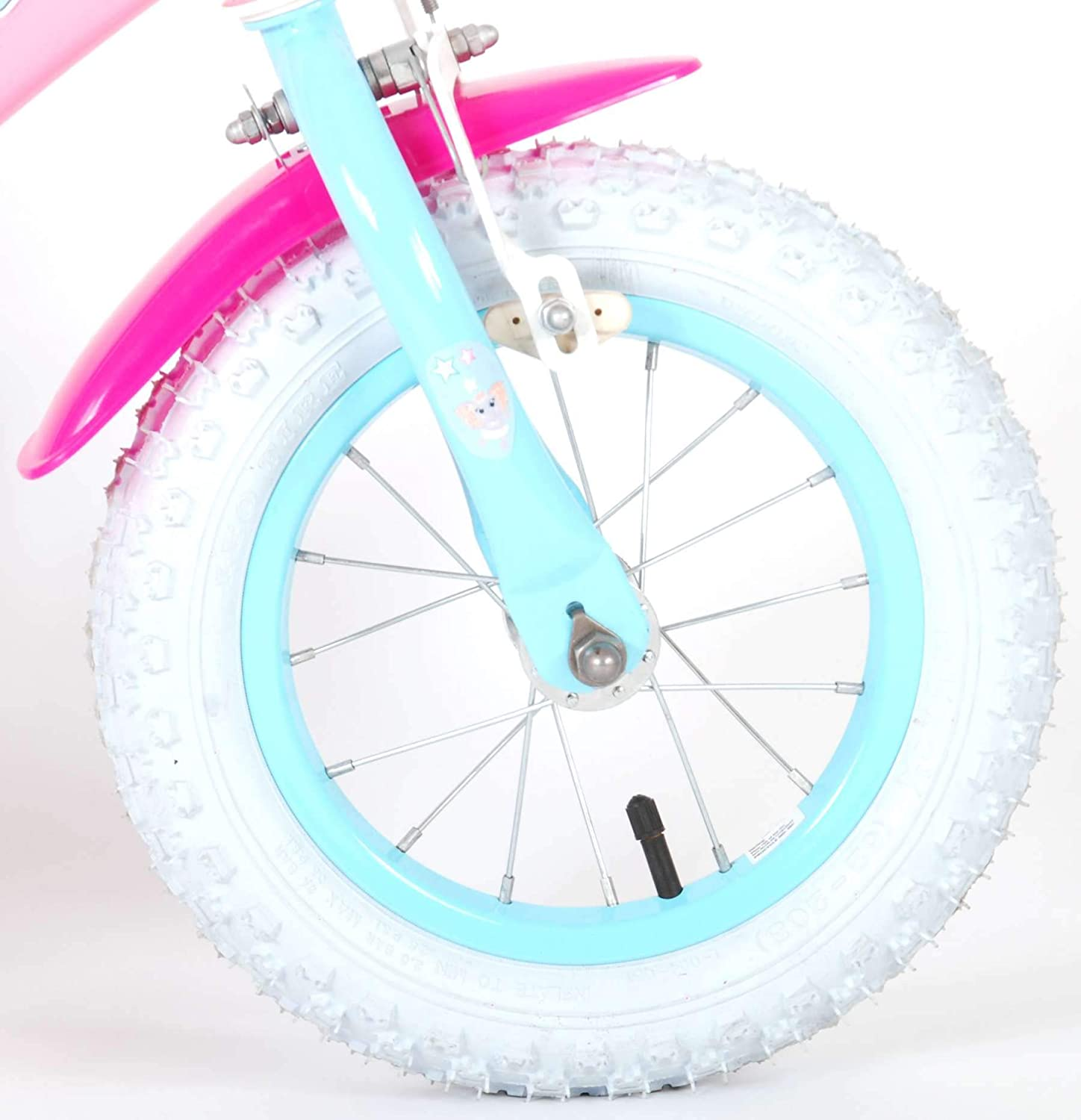 Girl Bicycle Ojo 12 Inch Removable Training Wheels Basket and Doll Carrier Pink 85/% Assembled