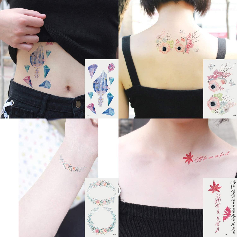 Oottati 30 Hojas Tatuaje Temporal Tattoo Pequeño Lindo Colorido ...