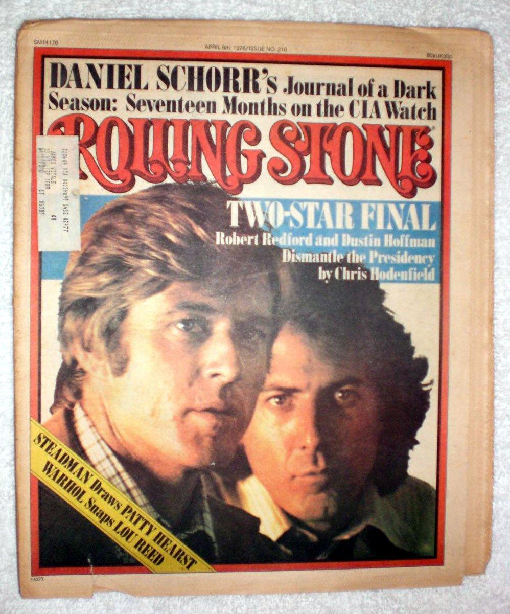 Robert Redford & Dustin Hoffman - All the President's Men (Watergate, Woodward & Bernstein) - Rolling Stone Magazine - #210 - April 8, 1976 - CIA Article Robert Redford & Dustin Hoffman - All the President' s Men (Watergate