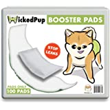 WickedPup Dog Diaper Liners Booster Pads for Male and Female Dogs, 100ct | Disposable Doggie Diaper Inserts fit Most…