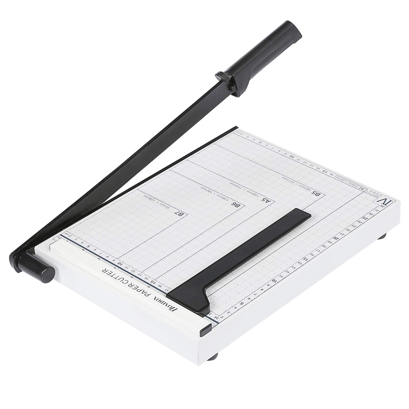 Paper Trimmer, A2-B7 Paper Cutter Guillotine with Heavy Duty Gridded Base 12'' Cut Length 12 Sheets Capacity for Home Office (A4-White) by newtend