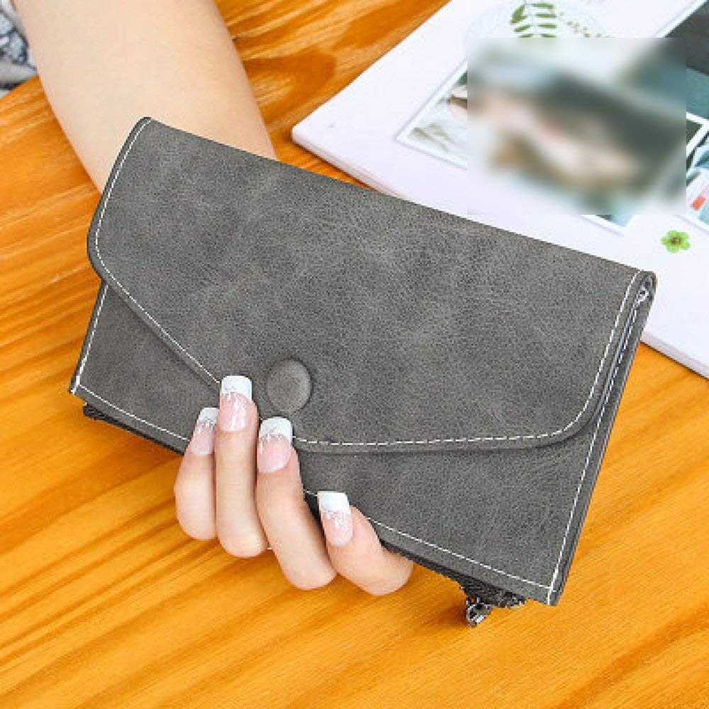B Soft The New Wallet Female Long Section Zipper Wallets Thin Models Card Bag Frosted Envelope Bag Handbag (color   F)