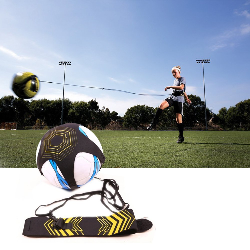 CHENXIグローバルフットボールトレーニングAid、ソロフットボールトレーナーPractice Footballスキル向上with SoccerリバウンドPlayer Perfect for Dribbling Passing Shooting B07DKCHK2W