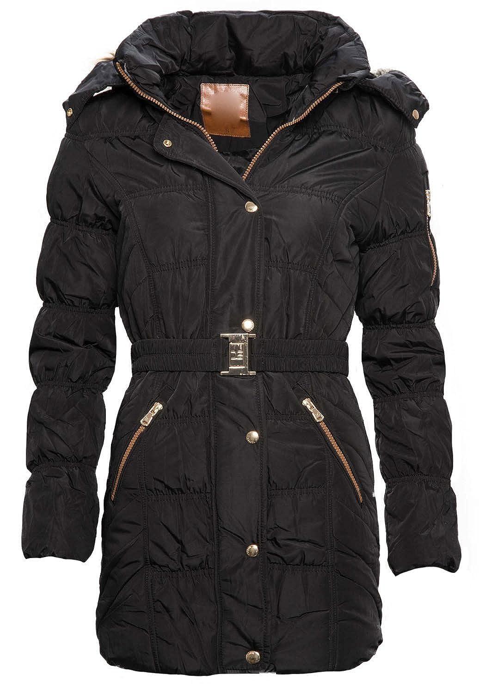 Damen Winter Jacke Kurzmantel Stepp Parka Mantel Winterjacke B342