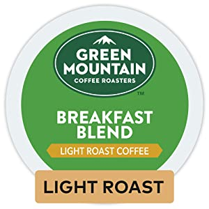Green Mountain Coffee Roasters Breakfast Blend, Single Serve Coffee K-Cup Pod, Light Roast, 32