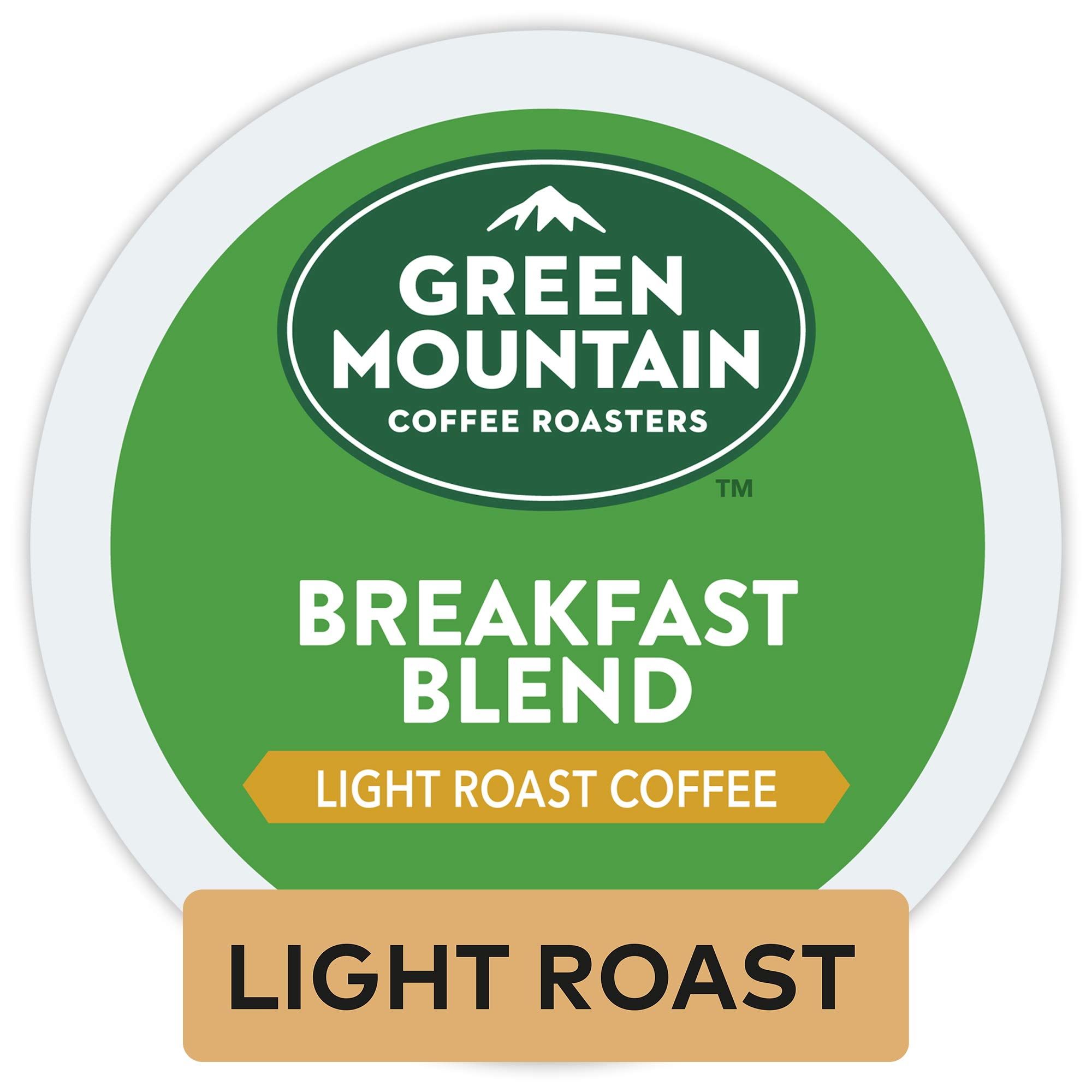 Green Mountain Coffee Roasters Breakfast Blend, Single Serve Coffee K-Cup Pod, Light Roast, 12 Count, Pack of 6